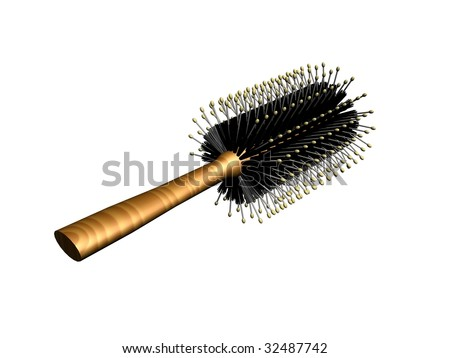 3d hairbrush - stock photo