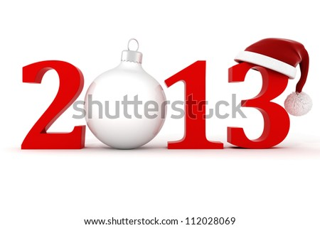 3d Happy New Year 2013 ! - stock photo