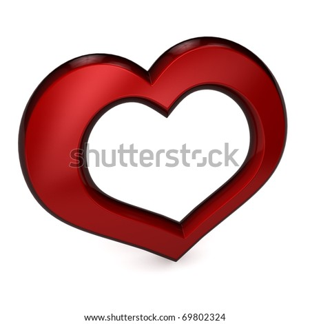 3d heart over white background. Computer generated image - stock photo