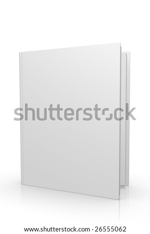 3d high quality blank magazine / book opened - stock photo