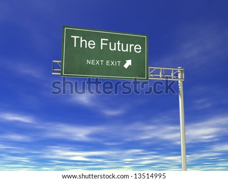 3D Hightway Billboard: The Future - stock photo