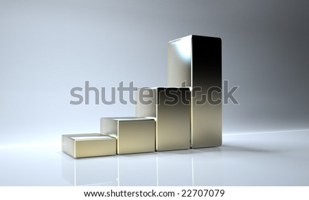 3d histogram - stock photo