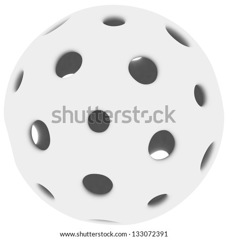 3D hollow ball isolated on white background