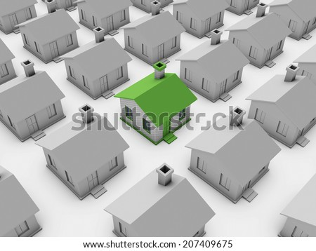 3d Home - stock photo