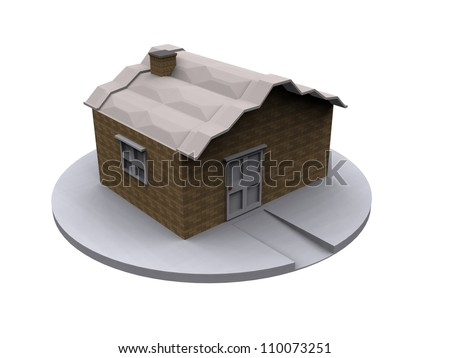 3d home isolated on white.