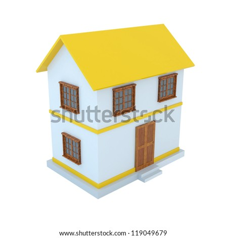 3D Home with white bacground