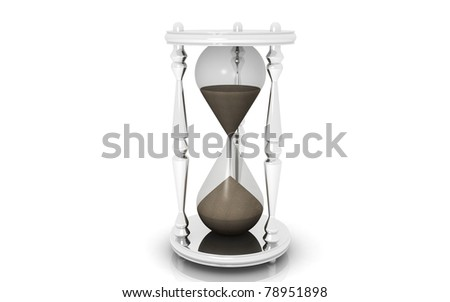 3D Hourglass isolated on white background