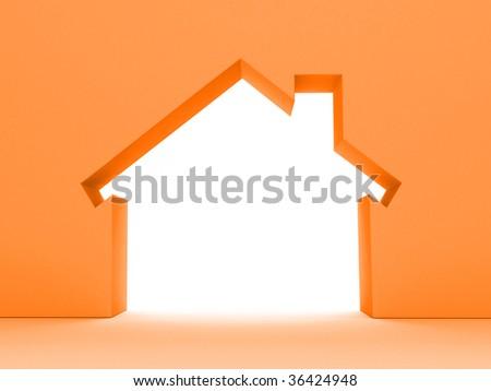 3d House Concept (Rent Metaphor) More Variations In My Portfolio - stock photo