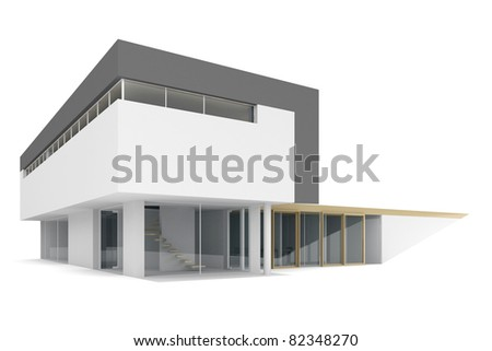 3d house on a white background. - stock photo