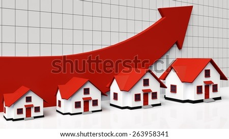 3D. House, Real Estate, Residential Structure. - stock photo