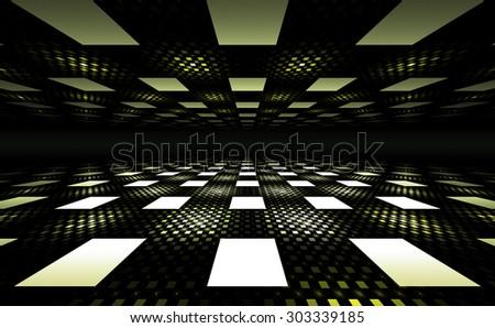 3D Illusion Geometric Background - stock photo