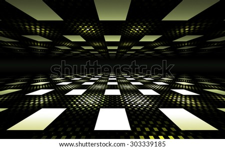 3D Illusion Geometric Background (Stock video version is also available in my portfolio. Clip ID 11491469) - stock photo