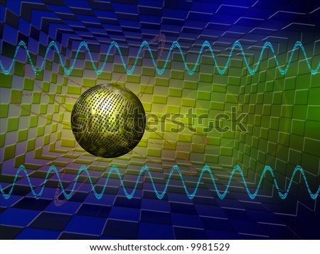 2D illustration, background representing the virtual data streams on the internet servers. - stock photo