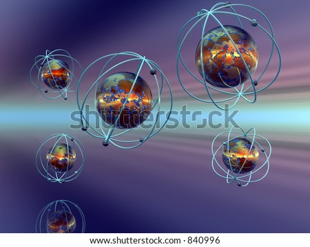 3D Illustration Background Wallpaper Of The Micro Cosmos A Molecule Atom