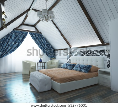 Bedroom In The Attic attic bedroom stock images, royalty-free images & vectors