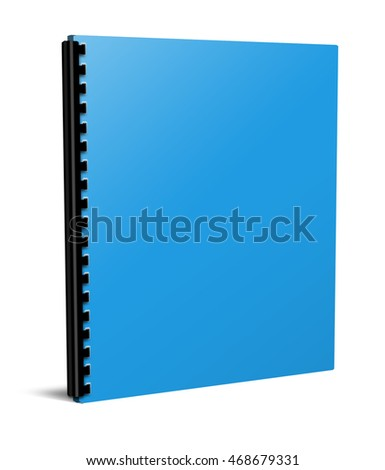 3d illustration blank notebook cover isolated on white background