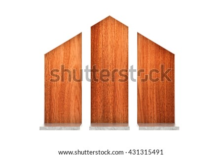 3D illustration , brown wooden background - stock photo