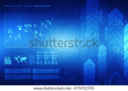 2d illustration business Background conceptual image of digital 3d icons