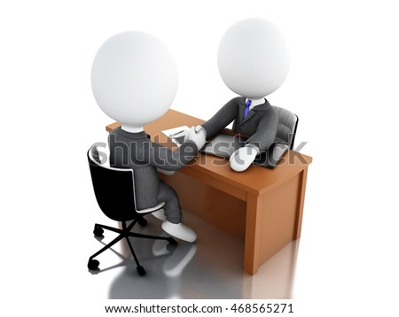 3d illustration. Businessman are shaking hands. Business concept. Isolated white background
