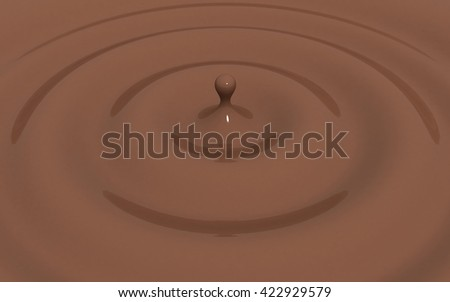 3D illustration Chocolate splash - stock photo