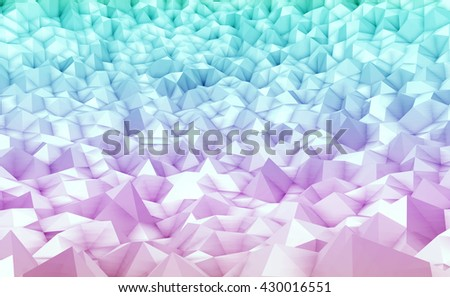 3d illustration - Colorful low poly texture
