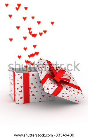 3d illustration concept of giving love - stock photo