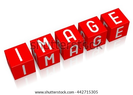 3D illustration/ 3D rendering - Image - 3D cube word - stock photo