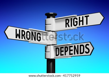 3D illustration/ 3D rendering - signpost with three arrows - choice concept - stock photo