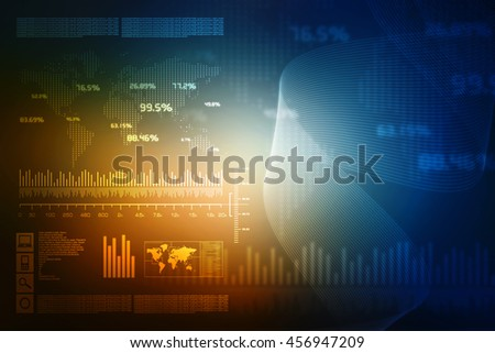 2d illustration Digital Abstract technology background