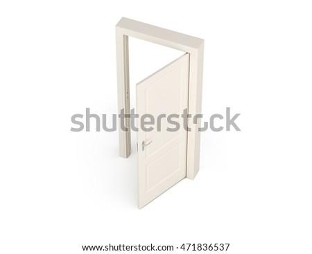 Great 3D Illustration Door. Birdu0027s Eye View.