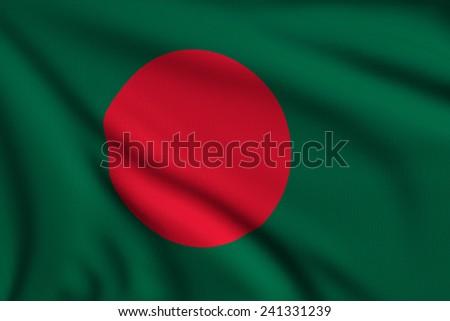 3d illustration flag of Bangladesh - stock photo