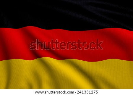 3d illustration flag of Germany
