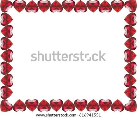3 D Illustration Group Red Diamonds Hearts Stock Illustration ...