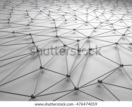 3D Illustration - Interconnected balls