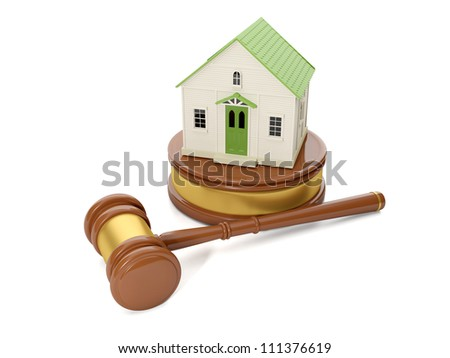 3d illustration: Legal assistance. Address issues related to real estate