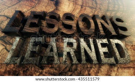 3D Illustration: Lessons Learned Concept - stock photo