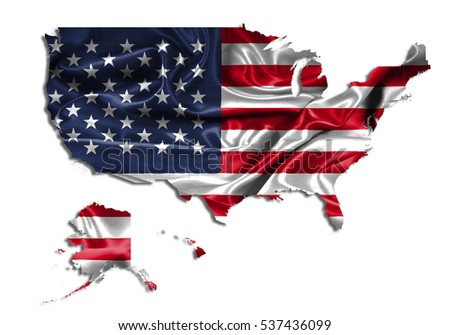 Usa Map Outline Clip Stock Photos RoyaltyFree Images Vectors - Us map all white red background