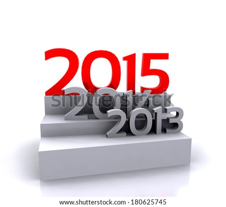 3D illustration - new year 2015