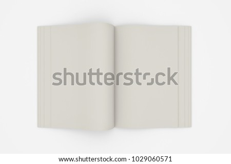 3d illustration of a blank open book isolated on white background