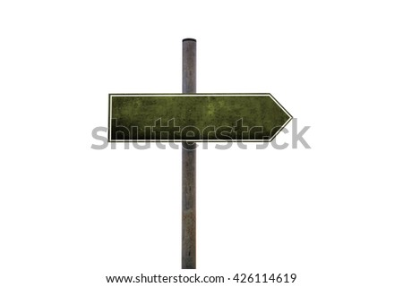 3d illustration of a blank road sign - stock photo