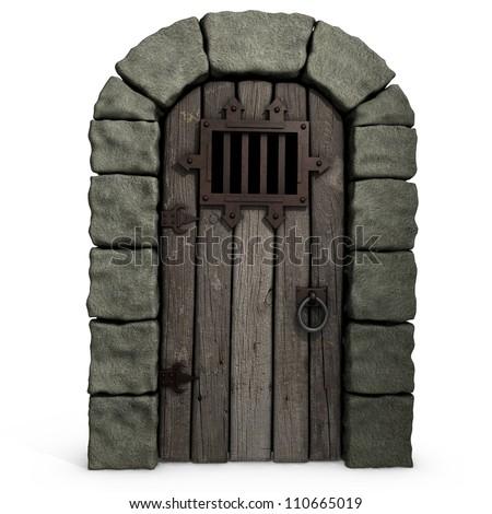 3d illustration of a castle door.  sc 1 st  Shutterstock & Dungeon Door Stock Images Royalty-Free Images u0026 Vectors ... pezcame.com