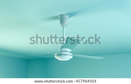 3d illustration of a ceiling fan