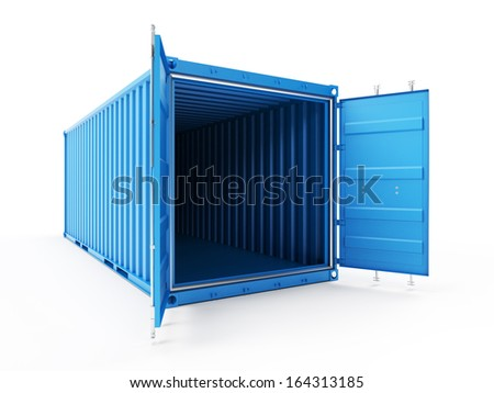 3d illustration of a container - stock photo