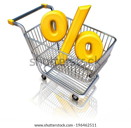 3d illustration of a discount concept - stock photo