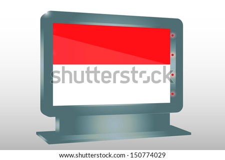 3D Illustration of a Glass Holder isolated with the flag of Indonesia - stock photo