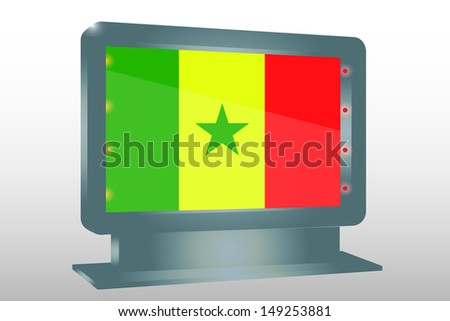 3D Illustration of a Glass Holder isolated with the flag of Senegal - stock photo