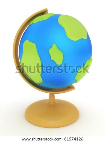 3D Illustration of a Globe - stock photo