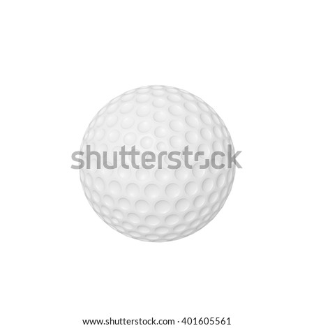 3d illustration of a golf ball isolated on white background - stock photo