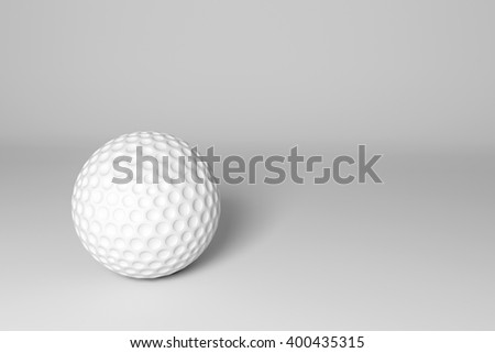 3D illustration of a golf ball isolated on white background. Rendering