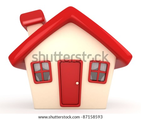 3D Illustration of a House - stock photo